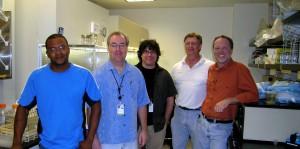Left to right: Eldridge Wynn, TJ Evens, Peter D'Aiuto, Scott Hyndman, Randy Niedz