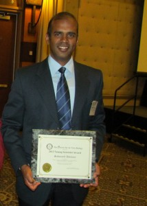 Sadanand Dhekney receiving the Young Scientist Award in 2013