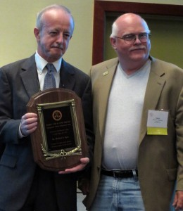 David Songstad presents Michael Kane with the Lifetime Achievement Award